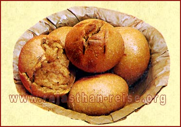Baked 'Baati' Immersed in butter