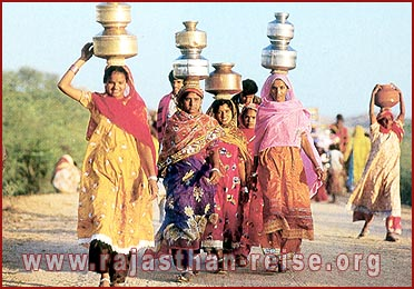 Women brings water in Village of Rajasthan